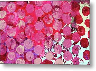 Metal Print featuring the mixed media Bubbles by Mary Ellen Frazee