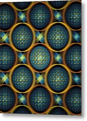 Bubbles - Pattern - Fractal Metal Print
