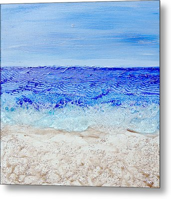 Bubbling Surf Metal Print