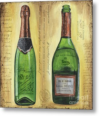 Bubbly Champagne 1 Metal Print by Debbie DeWitt