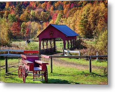Metal Print featuring the photograph Buck Board Ready For Fall Colors by Jeff Folger