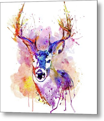 Metal Print featuring the mixed media Buck by Marian Voicu