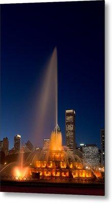 Buckingham Fountain Chicago Metal Print by Steve Gadomski