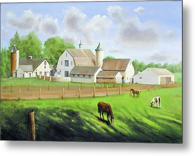 Buckingham Horse Farm Metal Print by Oz Freedgood