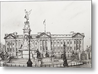 Buckingham Palace Metal Print by Vincent Alexander Booth