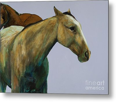 Metal Print featuring the painting Buckskin by Frances Marino