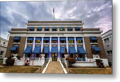 Metal Print featuring the photograph Buckstaff Bathhouse - Christmas by Stephen Stookey