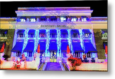 Metal Print featuring the photograph Buckstaff Baths - Christmastime by Stephen Stookey