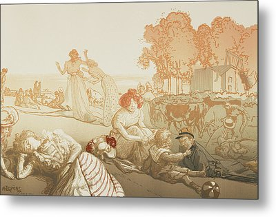 Bucolique Moderne Metal Print by Auguste Lepere
