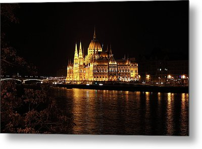 Metal Print featuring the digital art Budapest - Parliament by Pat Speirs