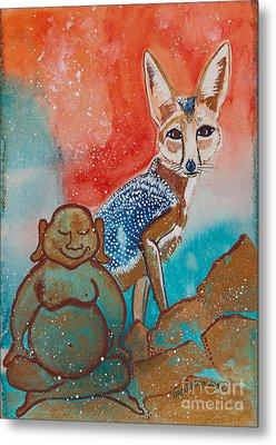 Buddha And The Divine Kit Fox No. 1373 Metal Print by Ilisa Millermoon