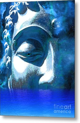 Buddha Emergence Metal Print by Khalil Houri