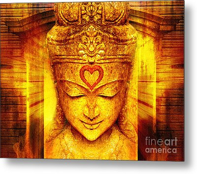 Buddha Entrance Metal Print by Khalil Houri