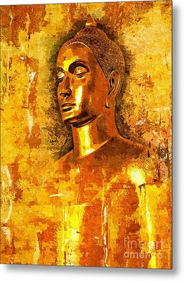 Buddha Grace Metal Print by Khalil Houri