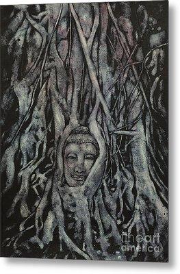 Buddha Head- Thailand Metal Print by Ryan Fox