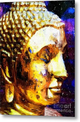 Buddha Immersion Metal Print