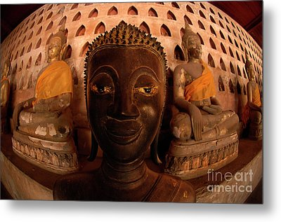 Metal Print featuring the photograph Buddha Laos 1 by Bob Christopher