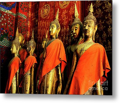 Metal Print featuring the photograph Buddha Laos 2 by Bob Christopher