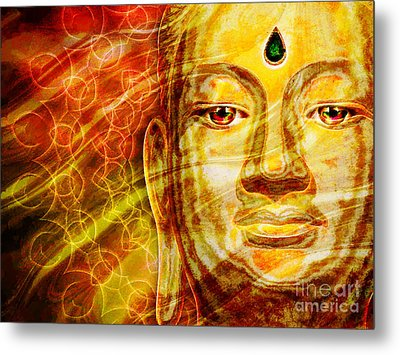 Buddha Mandala Metal Print