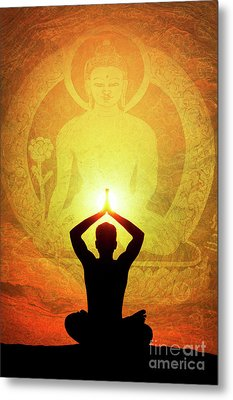 Metal Print featuring the photograph Buddha Prayer by Tim Gainey