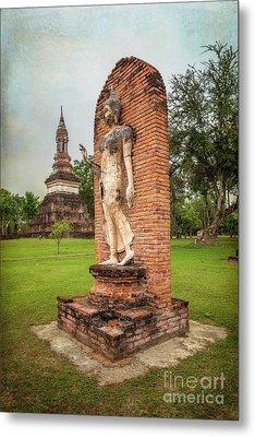 Buddha Statue Sukhothai Metal Print by Adrian Evans