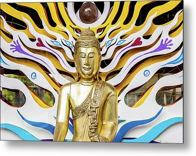 Buddha Strings Metal Print by Art Block Collections