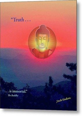 Buddha Sunset Metal Print by Jack Eadon