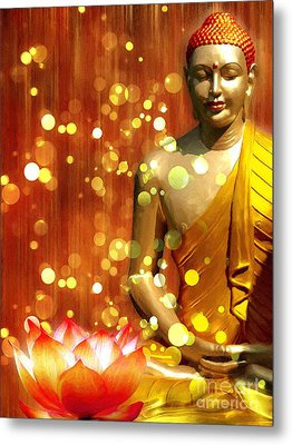 Buddha Synthesis Metal Print by Khalil Houri