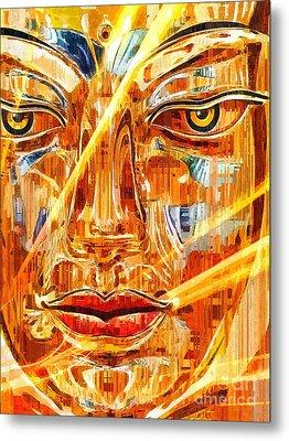 Buddha Titanium Metal Print