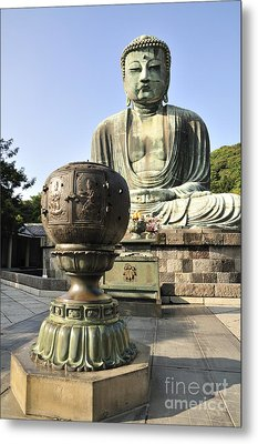 Buddha With Urn Metal Print by Andy Smy
