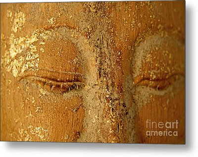Buddha's Eyes Metal Print by Julia Hiebaum