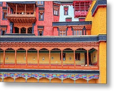 Metal Print featuring the photograph Buddhist Monastery Building by Alexey Stiop
