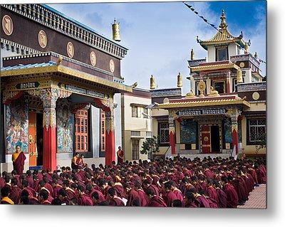 Buddhist Monastery In Full Attendance Metal Print by Nila Newsom