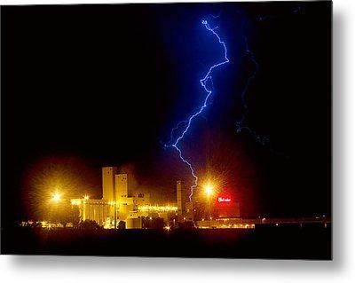 Budweiser Lightning Strike Metal Print by James BO  Insogna