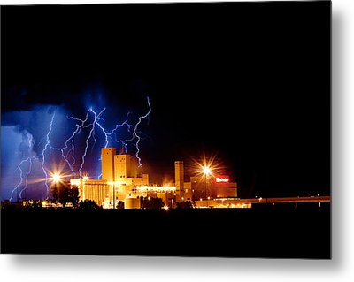 Budweiser Lightning Thunderstorm Moving Out Metal Print