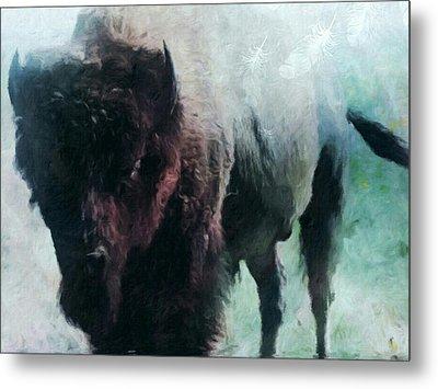 Buffalo American Bison Metal Print