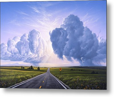 Buffalo Crossing Metal Print