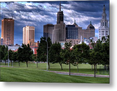 Buffalo From Elm And Tupper Metal Print by Don Nieman