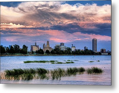 Buffalo From The Breakwall Metal Print by Don Nieman