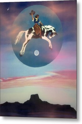 Buffalo Girls Over Abiquiu I Metal Print by Anastasia Savage Ealy