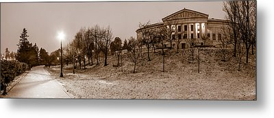 Metal Print featuring the photograph Buffalo History Museum Winter Twilight  by Chris Bordeleau