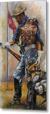 Buffalo Soldier Outfitted Metal Print