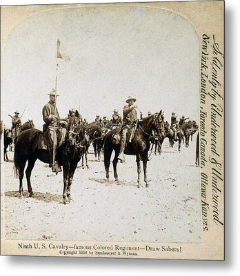 Buffalo Soldiers Of The Ninth U.s Metal Print