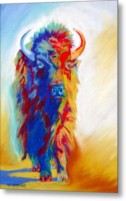 Metal Print featuring the pastel Buffalo Two by Pat Crowther