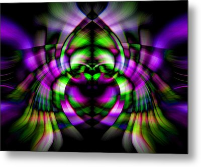 Metal Print featuring the photograph Bug With Wings by Cherie Duran