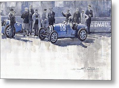 Bugatti 35c Monaco Gp 1930 Louis Chiron  Metal Print by Yuriy  Shevchuk