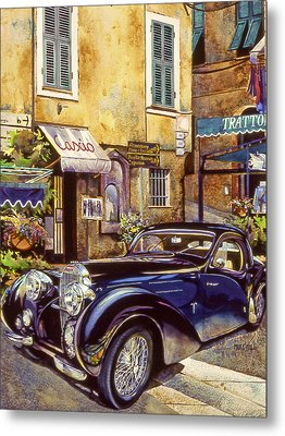 Bugatti Metal Print by Mike Hill