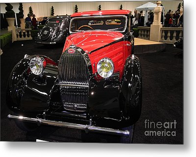 Bugatti Red . Front Angle Metal Print by Wingsdomain Art and Photography