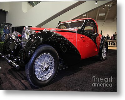 Bugatti Red Metal Print by Wingsdomain Art and Photography