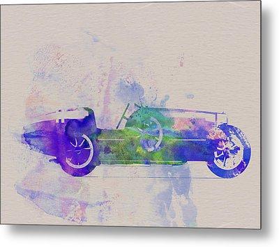 Bugatti Type 35 R Watercolor 2 Metal Print by Naxart Studio